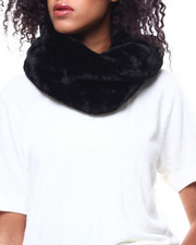 Fashion Lab - Twisted Faux Fur Ring Scarf-2268726