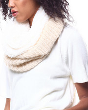 Fashion Lab - Lurex Knit Ring Scarf-2268728