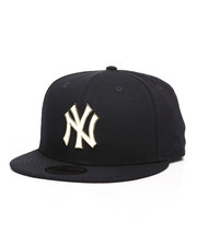 NBA, MLB, NFL Gear - 9Fifty Gilded Front New York Yankees Strapback Hat-2287454