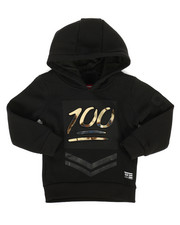 Hoodies - Embossed Metallic Fleece Hoodie (2T-4T)-2286890