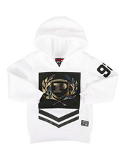 Hoodies - Embossed Metallic Fleece Hoodie (2T-4T)-2286886