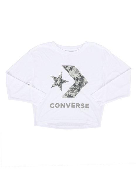 Converse - Oversized Star Chevron Crop Top (7-16)