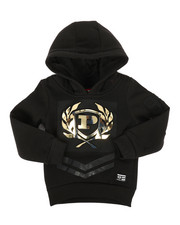 Hoodies - Embossed Metallic Fleece Hoodie (2T-4T)-2286894