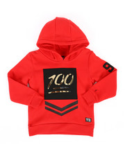 Hoodies - Embossed Metallic Fleece Hoodie (4-7)-2286907