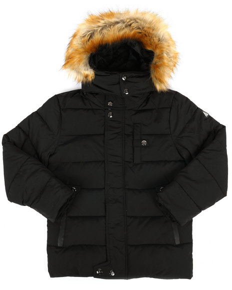 Arcade Styles - Hooded Parka Jacket (8-20)
