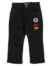 Bottoms - Stretch Black Twill Pants (2T-4T)-2288477