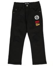 Born Fly - Stretch Black Twill Pants (4-7)-2288464