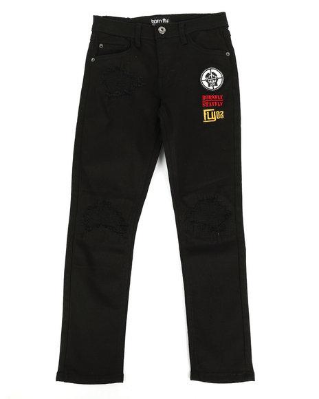 Born Fly - Stretch Black Twill Pants (8-20)