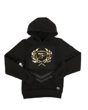 Hoodies - Embossed Metallic Fleece Hoodie (8-20)-2287455