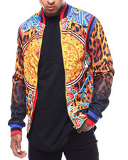 Outerwear - Leopard Gold Medallion Jacket-2289039