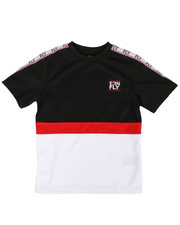 Born Fly - Color Block Poly Tee w/ Taping (8-20)-2288420