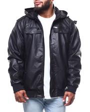 Light Jackets - Pu Jacket/Detachable Hood (B&T)-2288852