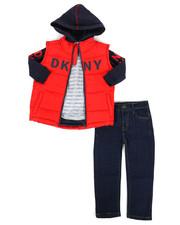 DKNY Jeans - York Avenue 3Pc Vest Set (2T-4T)-2288451