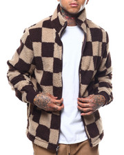 Outerwear - CHECK PATTERN SHERPA FULL ZIP JACKET-2288889
