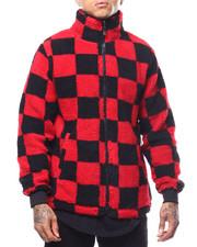 Outerwear - CHECK PATTERN SHERPA FULL ZIP JACKET-2288879