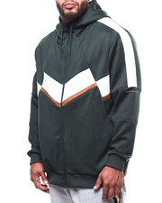 Outerwear - Broken Chevron Zip Up Hoodie-2288837