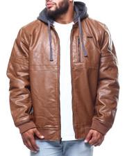 Big & Tall Faves - Pu Jacket/Fleece Hoodie (B&T)-2288816