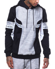 Rich Star - RS MELANGE STRIPE BLOCK HOODY-2288958