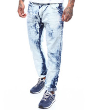 Jeans - Medium Wash And Paint Moto Jean-2289083