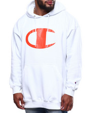 Champion - L/S Large Chest Logo Fleece Printed Pullover Hoodie (B&T)-2289362