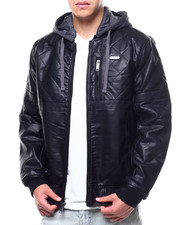 Outerwear - QUILTED PU HOODED JACKET-2289525