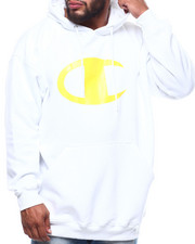 Champion - L/S Large Chest Logo Fleece Printed Pullover Hoodie (B&T)-2289352