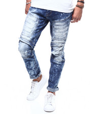 Men - Slim Embossed Moto Jean-2289460