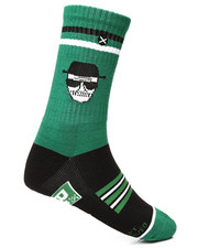 DRJ SOCK SHOP - Who Is Heisenberg Knit Crew Socks-2286302