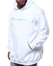 Champion - L/S Script Logo Fleece Printed Pullover Hoodie (B&T)-2289390