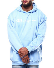 Champion - L/S Script Logo Fleece Printed Pullover Hoodie (B&T)-2289368