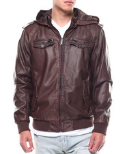 Rocawear - PU BOMBER JACKET W DETACHABLE HOOD-2289547