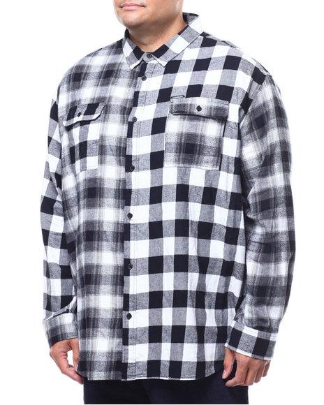 Sean John - L/S Colorblocked Check Shirt (B&T)