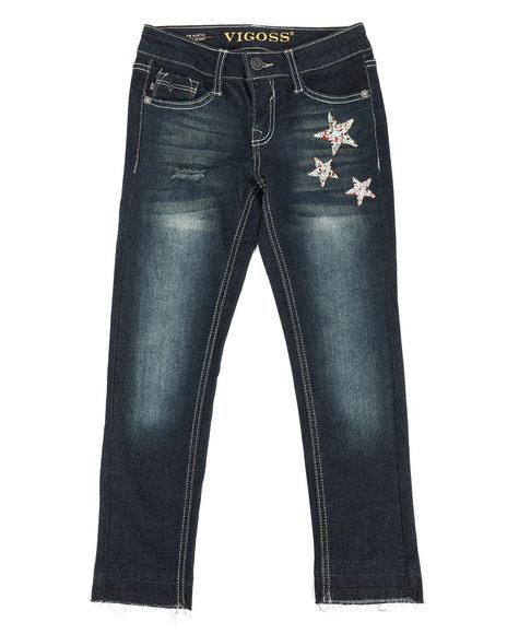 Vigoss Jeans - Ankle Skinny W/ Released Hem Jeans (7-16)