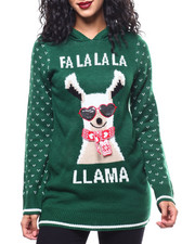 Almost Famous - FALALALA Christmas Hooded L/S Sweater-2288300