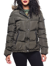 Outerwear - Nylon Puffer/Faux Fur Trim-2289894