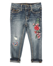 Sizes 2T-4T - Toddler - Ankle Skinny Rolled Cuff Hem Jeans (2T-4T)-2289800