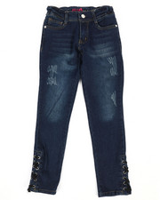 Delia's Girl - Lace Up Detail Jeans (7-16)-2289793