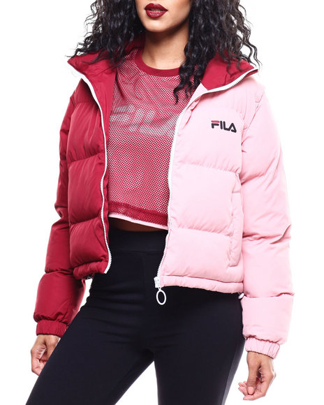Fila - Martina Snap Off Sleeve Crop Puffer