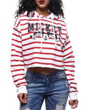 Fashion Lab - Mickey Stripe Crop Hoodie-2289557