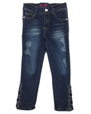 Girls - Lace Up Details Jeans (4-6X)-2289788