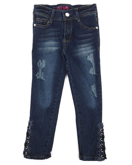 Delia's Girl - Lace Up Details Jeans (4-6X)