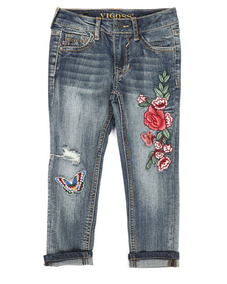 Vigoss Jeans - Ankle Skinny Rolled Cuff Hem Jeans (4-6X)