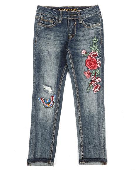 Vigoss Jeans - Ankle Skinny Rolled Cuff Hem Jeans (7-16)