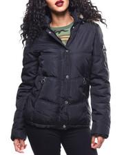 Womens-Winter - Nylon Puffer/Faux Fur Trim-2289924