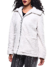 Womens-Winter - Sherpa Zip Front Jacket-2289944