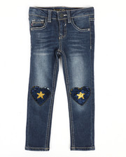 Vigoss Jeans - Skinny Jeans W/ Sequins Heart Knee Patch (4-6X)-2290068