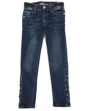 Bottoms - Side Lace-Up Skinny Jeans (7-16)-2290083