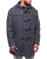 Outerwear - Long Toggel Wool Hooded Coat (B&T)-2290262