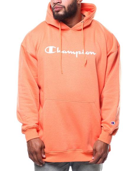 Champion - L/S Script Logo Fleece Printed Pullover Hoodie (B&T)
