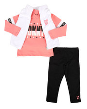 DKNY Jeans - 3 Piece Mock Neck Vest & Legging Set (2T-4T)-2290194